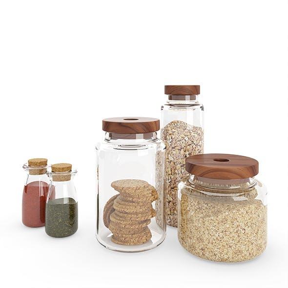 Kitchen Glass Jars