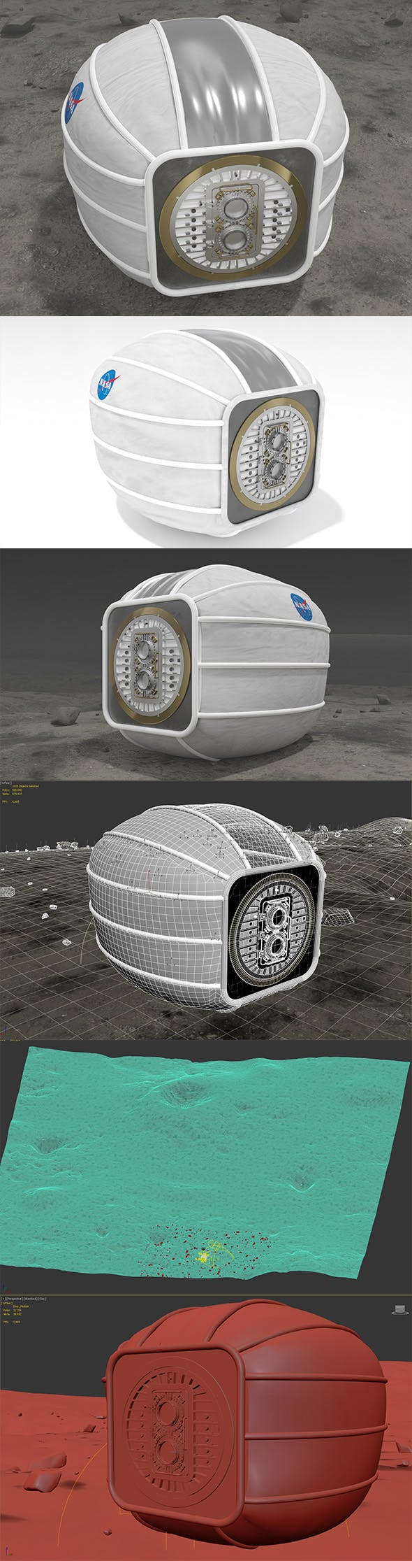 Module Landed on Moon surface - 3DOcean Item for Sale