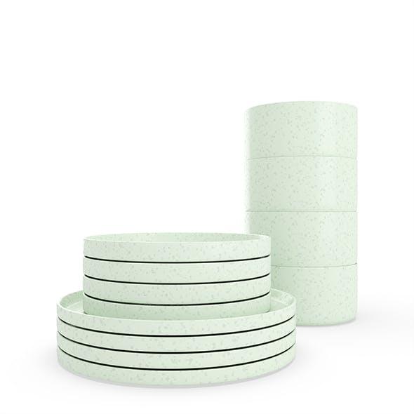 Modern dining speckled set - 3DOcean Item for Sale