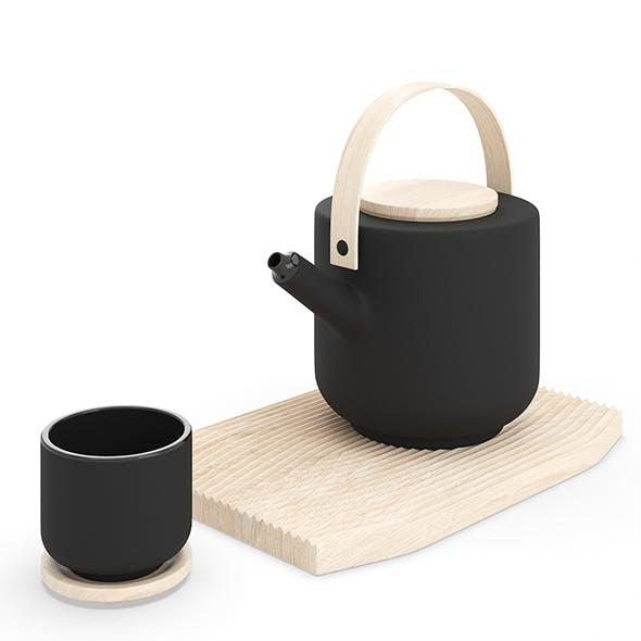 Stelton Theo Teapot and Tea Mug