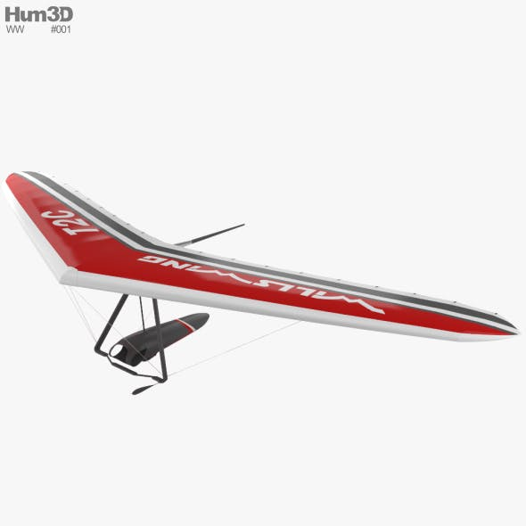 Hang glider Wills Wing T2C - 3DOcean Item for Sale