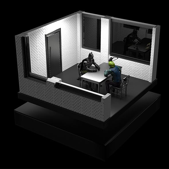 Batman Interrogates Joker - 3DOcean Item for Sale