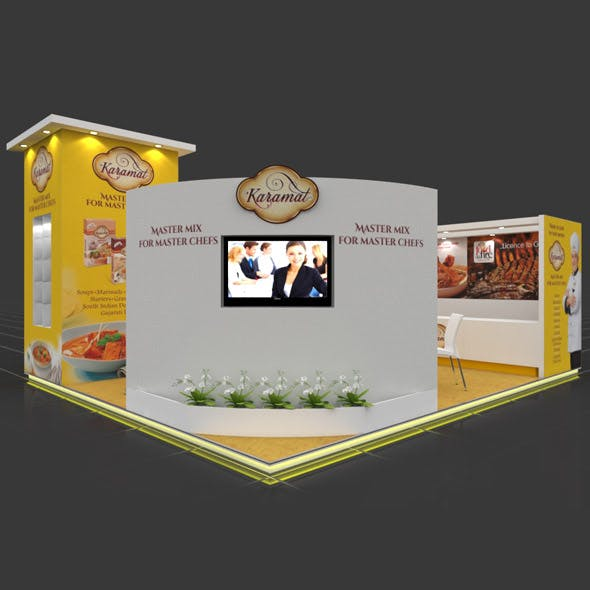 Exhibition Booth 3D Model - 7x6 mtr - 3DOcean Item for Sale