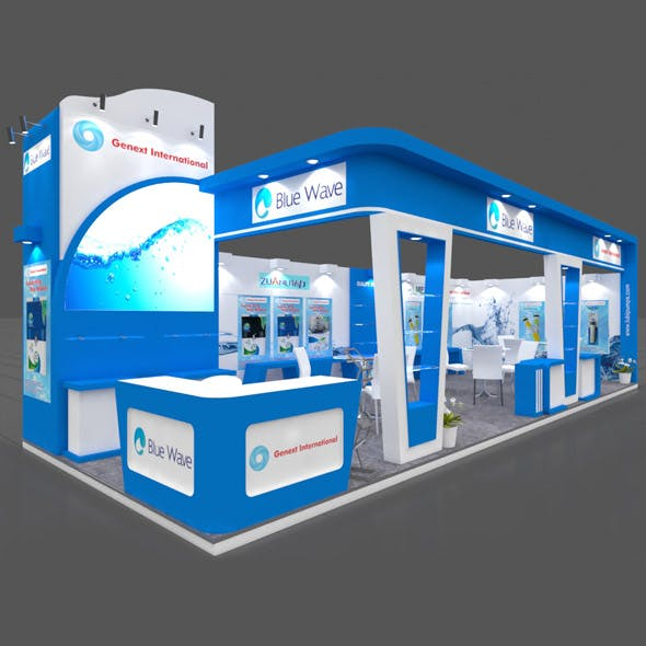 Exhibition Booth 3D Model - 11x4 mtr - 3DOcean Item for Sale
