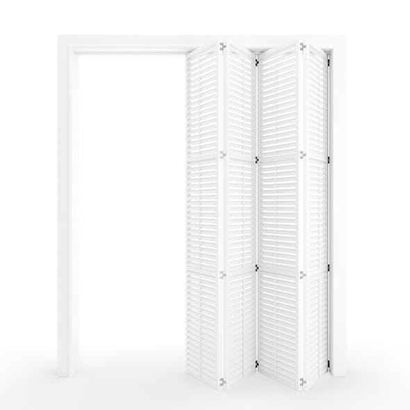 Interior folding shutter door - 3DOcean Item for Sale