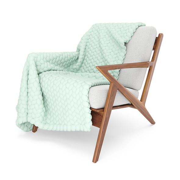Soto Chair with Wool Blanket - 3DOcean Item for Sale
