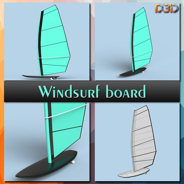 Windsurf board - 3DOcean Item for Sale