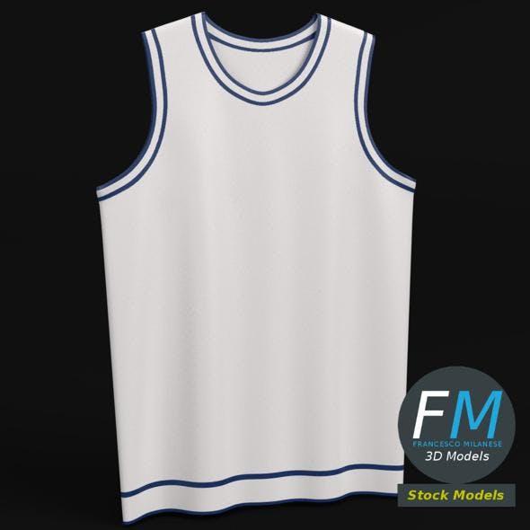 Flat basketball jersey