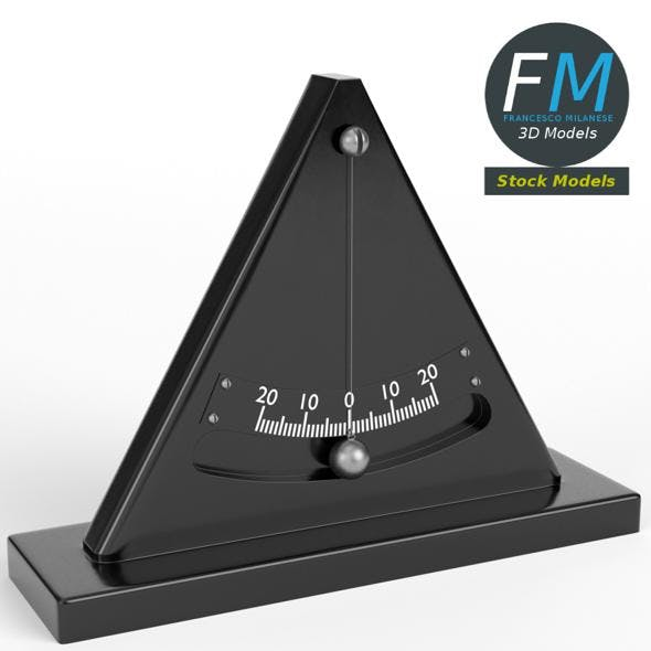 Simple inclinometer - 3DOcean Item for Sale