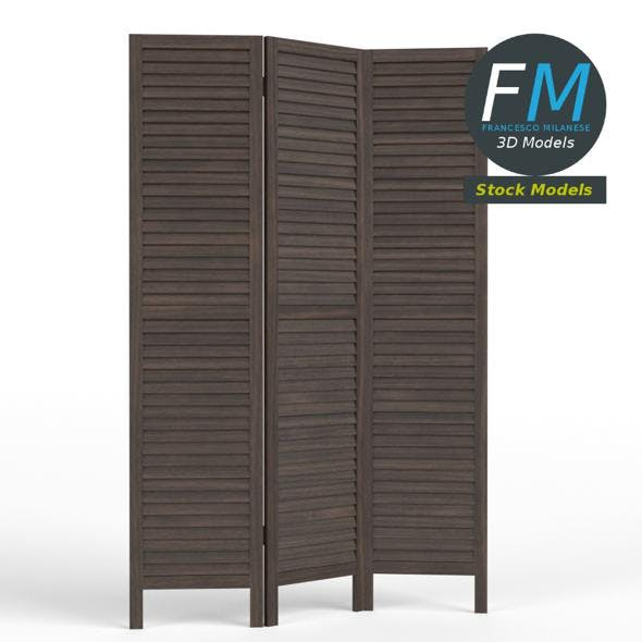Wood room panel divider - 3DOcean Item for Sale