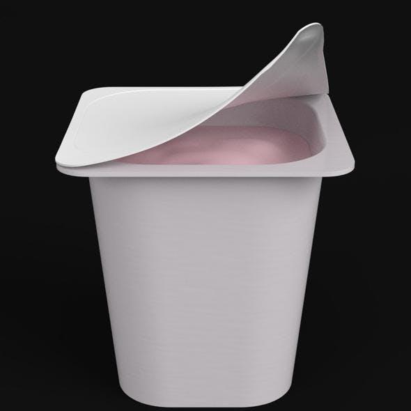 Yogurt square cup open