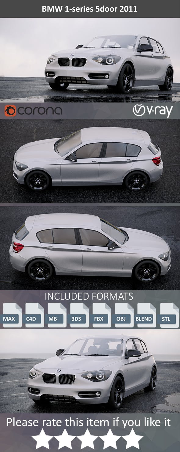 BMW 1-Series 118i 2011 - 3DOcean Item for Sale