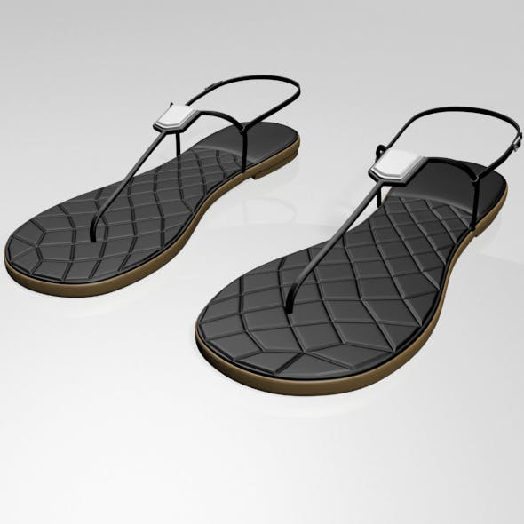 T-Strap Thong Sandals 01 - 3DOcean Item for Sale