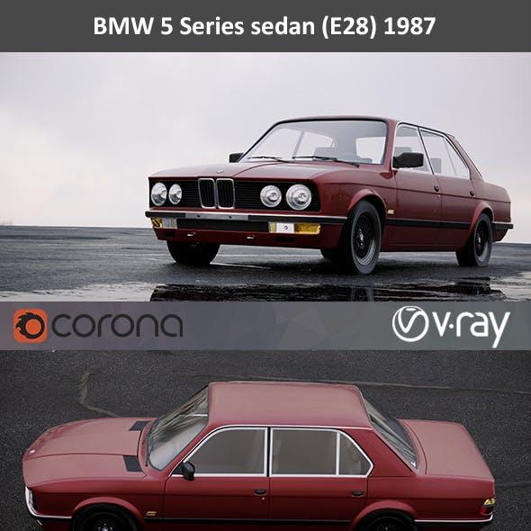 BMW 5-Series E28 Sedan 1987