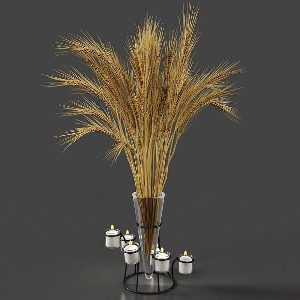 set vases-No3- Glass Candle Vase