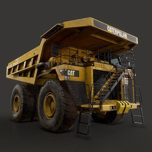 Caterpillar 785D Mining Dump Truck - Low Poly