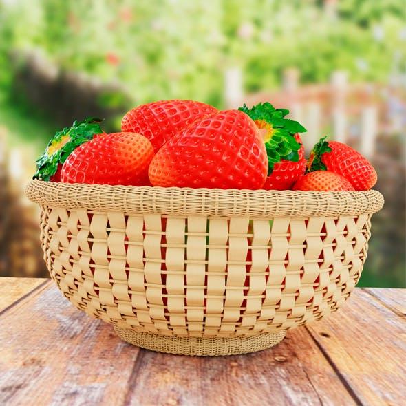 Strawberries in the basket - 3DOcean Item for Sale
