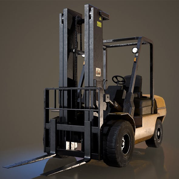 Forklift Truck - Low Poly - 3DOcean Item for Sale