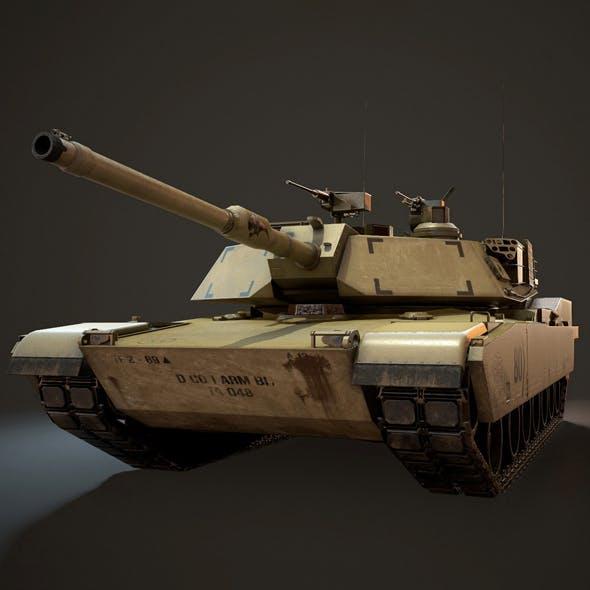 M1A1 Abrams Tank - Low Poly
