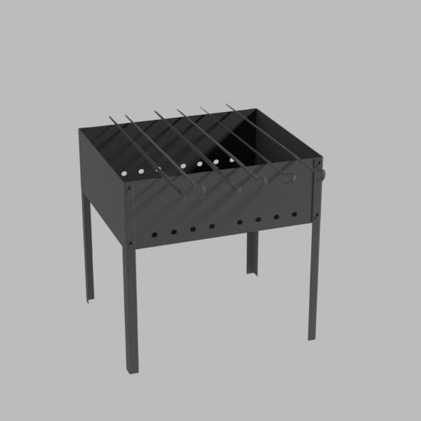 Brazier and skewers