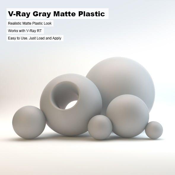 V-Ray Gray Matte Plastic - 3DOcean Item for Sale