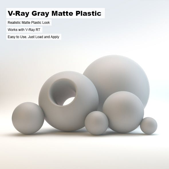 V-Ray Gray Matte Plastic