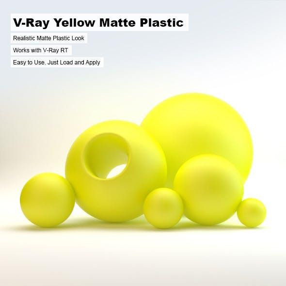 V-Ray Yellow Matte Plastic
