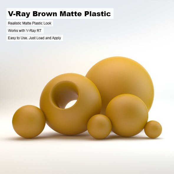 V-Ray Brown  Matte Plastic