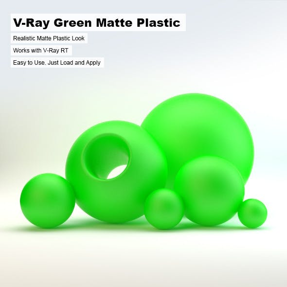 V-Ray Green Matte Plastic