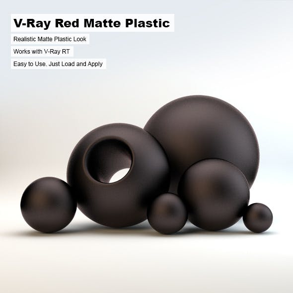 V-Ray Black Matte Plastic