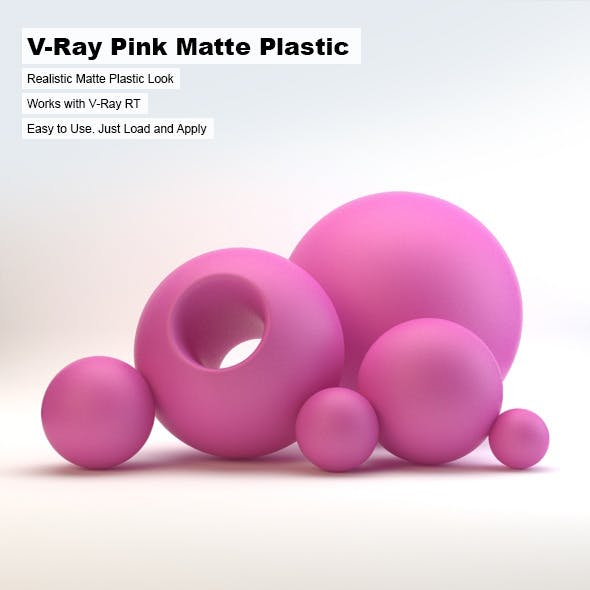 V-Ray Pink Matte Plastic