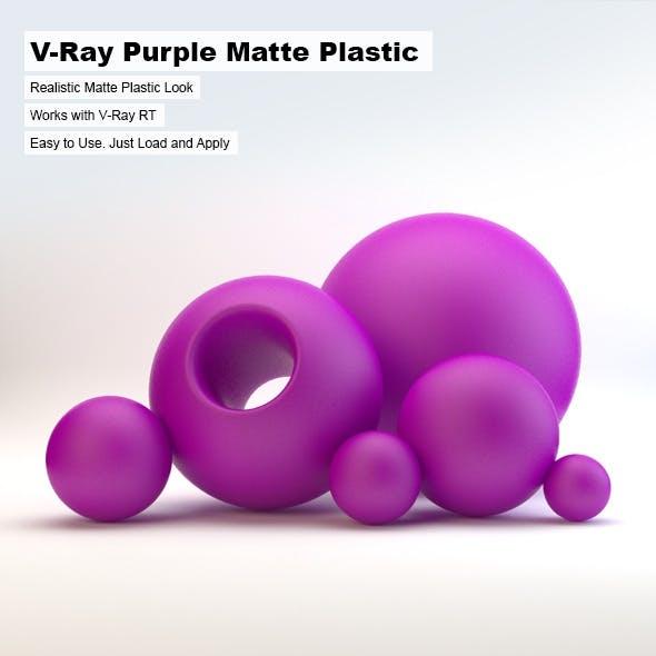 V-Ray Purple Matte Plastic