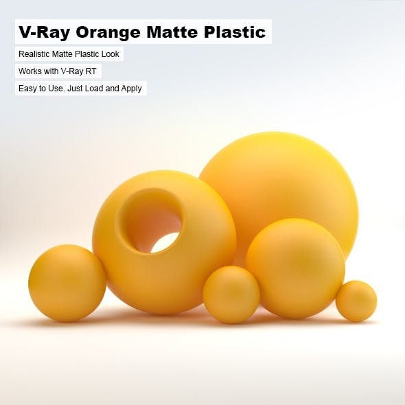 V-Ray Orange Matte Plastic