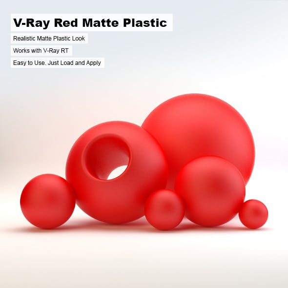 V-Ray Red Matte Plastic