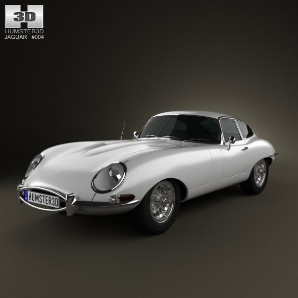 Jaguar E-type coupe 1961 - 3DOcean Item for Sale
