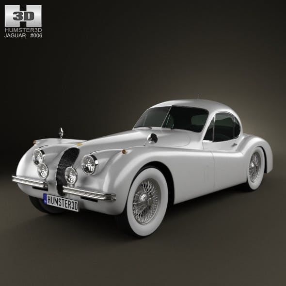 Jaguar XK120 coupe 1953 - 3DOcean Item for Sale