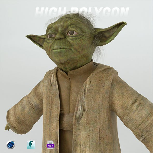 Yoda 3d model - 3DOcean Item for Sale