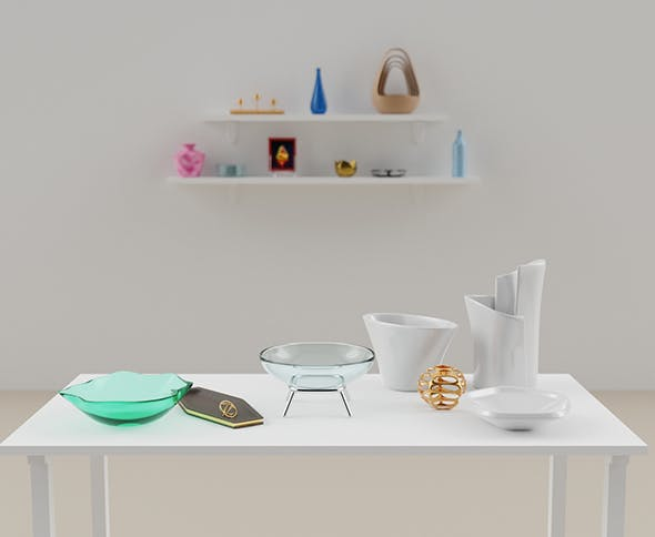 Collection of Decorative Objects - 3DOcean Item for Sale