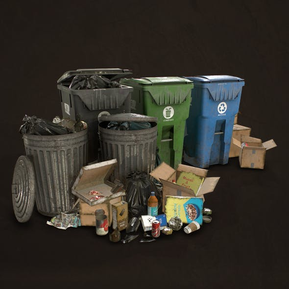 Urban Trash Pack Vol 2 - Low Poly