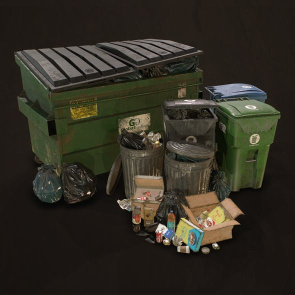 Urban Trash Pack Vol 3 - Low Poly