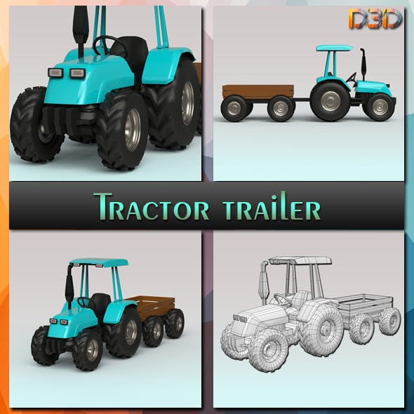 Tractor trailer - 3DOcean Item for Sale
