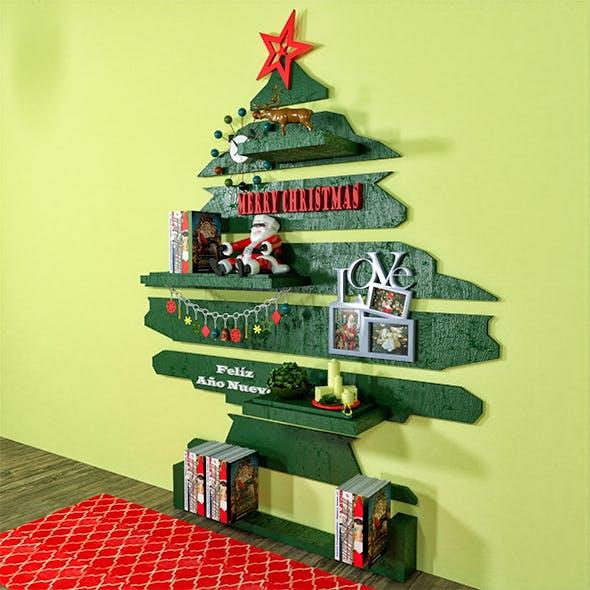 Christmas Tree Bookshelves - 3DOcean Item for Sale