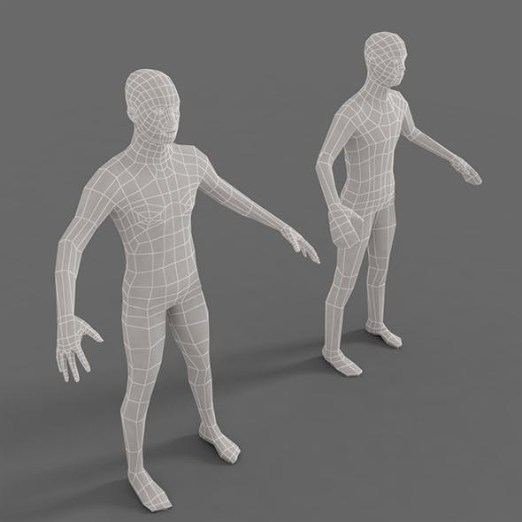 Low poly base mesh character