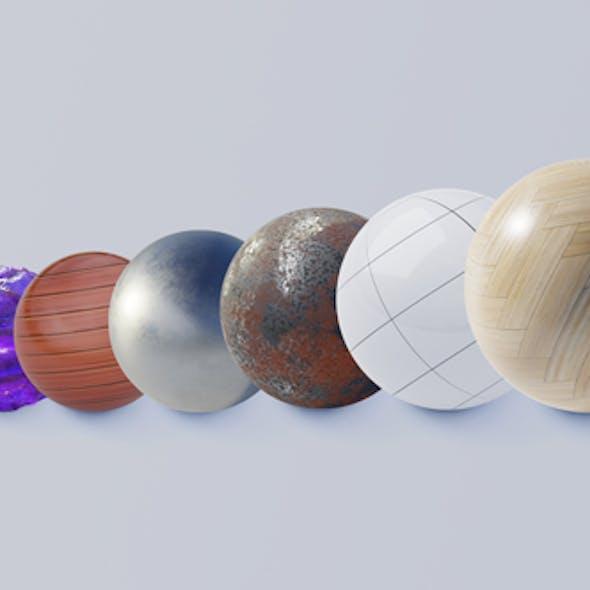 Blender Cycle Floor Materials Pack
