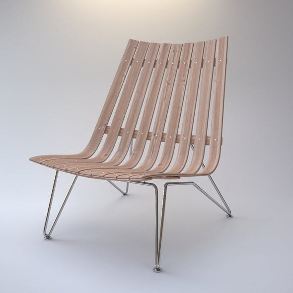 Photorealistic ScandiaNett Lounge Chair