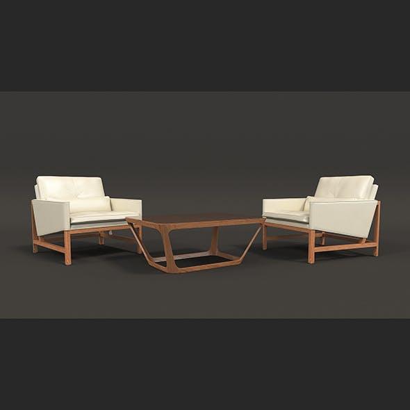 Contemporary Design Armchair Set 3