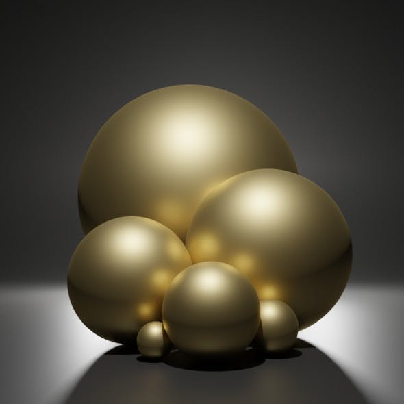 metal gold 2 - 3DOcean Item for Sale