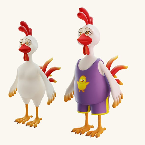 Stylized cartoon rooster