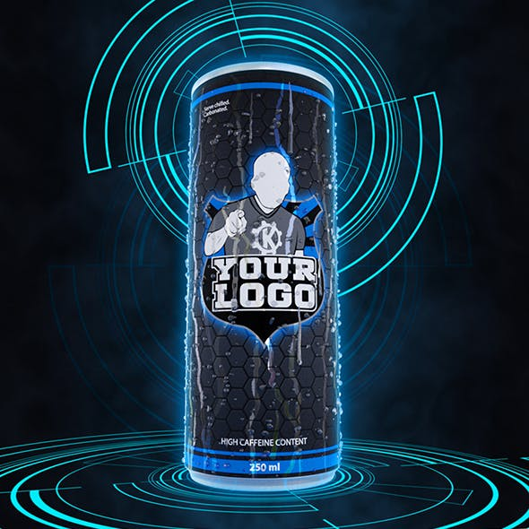 Medium soda / energy drink can