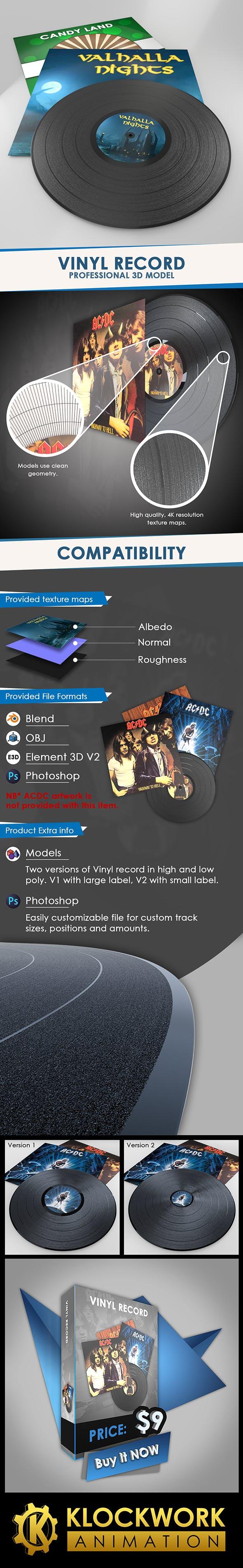Vinyl Record - 3DOcean Item for Sale